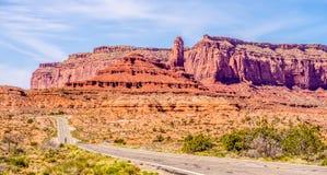 Descending into Monument Valley at Utah  Arizona border Royalty Free Stock Photo