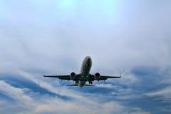 Descending plane to land Stock Image
