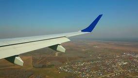 Descending plane stock video