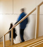 Descending Stairs Stock Image