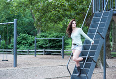 Descending stairs Royalty Free Stock Photos