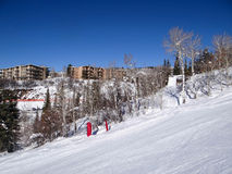 Descending  Steamboat Springs Royalty Free Stock Images