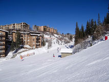 Descending  Steamboat Springs. Descending into base area of  Steamboat Springs ski area, Colorado Stock Photography