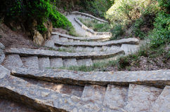 Descending stone steps. In Spain Stock Photography