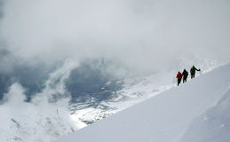 Descending from the summit Royalty Free Stock Images