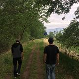 Descendre la traînée scénique de Kamloops avec mes amis Image libre de droits