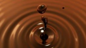 Descenso de la macro del coffe con el efecto de foco (descenso 2) Fotografía de archivo