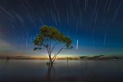 Descenso de las estrellas Foto de archivo libre de regalías