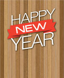 Descenso de madera de Feliz Año Nuevo Foto de archivo