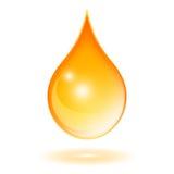 Descenso del aceite Foto de archivo libre de regalías