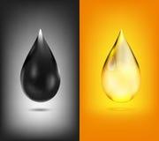 Descenso del aceite, icono ilustración del vector