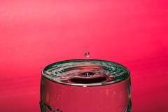 Descenso del agua Imagen de archivo libre de regalías