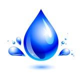 Descenso del agua. aguamarina Imágenes de archivo libres de regalías