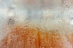 Descenso del agua en el espejo Foto de archivo libre de regalías