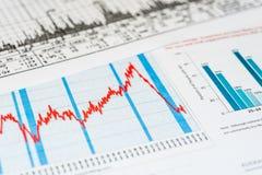 Descenso económico fotos de archivo