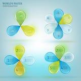 Descenso 02 infographic A del agua Fotos de archivo libres de regalías