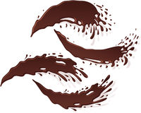 Descenso Jet Stream Set de la mancha blanca /negra del chapoteo de la bandera del chocolate stock de ilustración