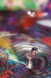 Descenso macro del agua Fotos de archivo libres de regalías
