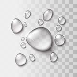 Descenso transparente del agua Fotos de archivo