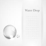 Descenso transparente del agua en fondo gris claro Fotografía de archivo libre de regalías