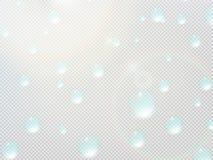 Descenso transparente del agua en rejilla gris EPS10 más Imagen de archivo libre de regalías