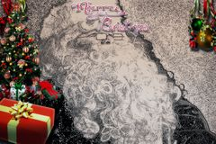 Descenso trasero de la Feliz Navidad Imágenes de archivo libres de regalías