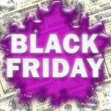 Descenso trasero de la venta de Black Friday Imagenes de archivo
