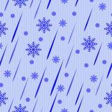 Descensos abstractos azules y nieve Fotografía de archivo libre de regalías