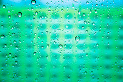 Descensos abstractos del agua en el espejo Fotografía de archivo libre de regalías