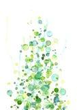 Descensos azulverdes de la acuarela Imagen de archivo libre de regalías