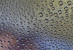 Descensos coloreados del agua fotos de archivo libres de regalías