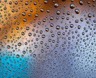 Descensos coloreados del agua Foto de archivo libre de regalías