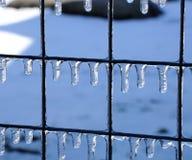 Descensos congelados del agua Imagenes de archivo