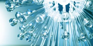 Descensos congelados del vidrio Fondo de cristal abstracto Textura Luz abstracta imagen de archivo