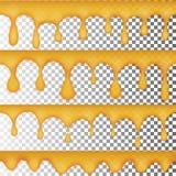 Descensos de la miel de oro, un sistema de cuatro opciones inconsútiles Jalea amarilla transparente libre illustration