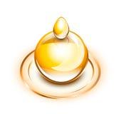 Descensos del aceite en ondulaciones Imagen de archivo libre de regalías