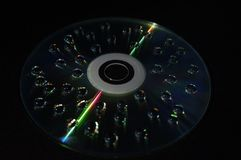 Descensos del agua en el disco fotografía de archivo libre de regalías