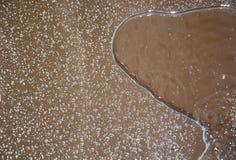 Descensos del agua en un espejo Imagen de archivo libre de regalías