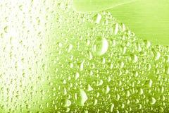 Descensos del agua en un fondo del color gris Profundidad del campo baja Foco selectivo blur imagen de archivo libre de regalías