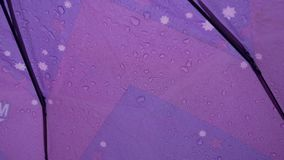 Descensos del agua en un paraguas almacen de metraje de vídeo