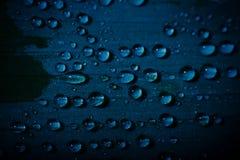 Descensos del agua en una hoja Imagen de archivo