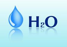 Descensos del agua Fórmula del agua Ilustración del vector Imágenes de archivo libres de regalías