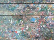 Descensos del color de agua Fotografía de archivo