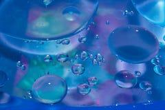 Descensos del jabón, manchas, aceite Foto de archivo libre de regalías