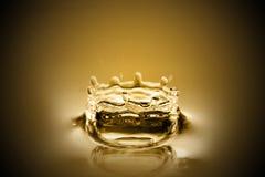 Descensos del oro líquido Fotografía de archivo