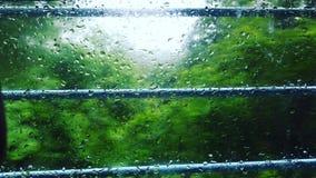 Descensos en la ventana Fotos de archivo