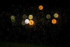 Descensos en la ventana de cristal Imagen de archivo libre de regalías