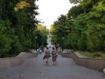 Descent into the city garden. Descent to the city garden by the sea in Taganrog Stock Image