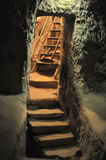Descent into the dungeon Kaymakli Underground City Royalty Free Stock Photo