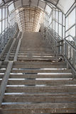 Descent footbridge. Made of metal and plastic Royalty Free Stock Photos